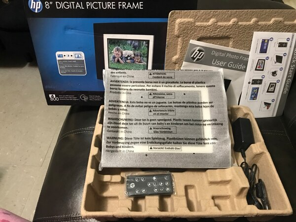 Used 8 Black Hp Digital Picture Frame Box For Sale In Bogota Letgo