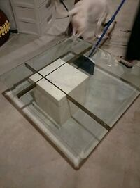 Glass and Marble Table Atco, 08004
