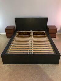 IKEA Queen Bed with slats and two bedside tables Rockville
