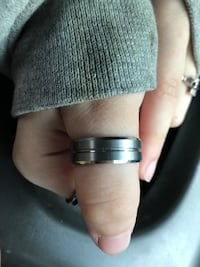 silver-colored and diamond ring Rockland, 02370