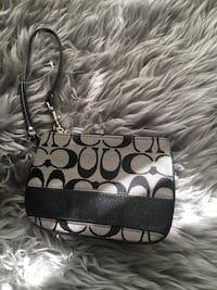 black and gray Coach monogram wristlet Calgary, T2H