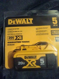 Dewalt 20v lithium ion  XR 5AH battery  Louisville, 40272