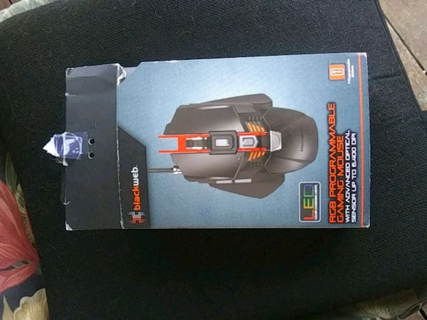 Used Black web RGB Programmable Gaming Mouse for sale in