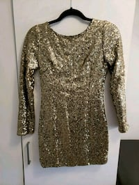 Gold sequin dress Newmarket