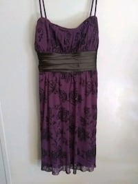 Purple and black floral spaghetti strap dress Spring Hill, 34606