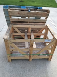 FREE two wooden pallets and a crate Fishers, 46040