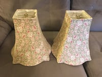 2 Soft Green & Pinks Floral Lampshades Mount Holly, 28120