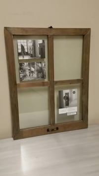 BRAND NEW!! FOUR-PANE, WEATHERED-WOOD COLLAGE FLOAT FRAME - firm $. Arlington, 22204