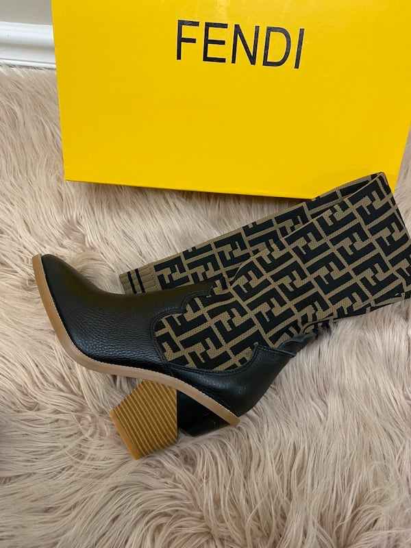 Fendi Monogram Sock Boots size 38/7.5/8 1