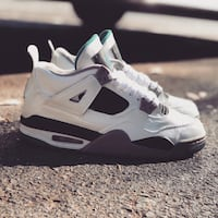 white-and-black Air Jordan 4 shoes Oakland, 94607