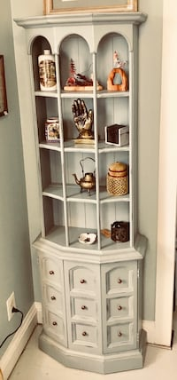 Robin's egg blue bookcase curio display book shelf petite cabinet  Kensington, 20895