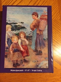 Woman with basket with child 500 piece puzzle box Virginia Beach, 23456