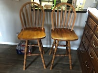 two brown wooden windsor chairs Terrell Hills, 78209