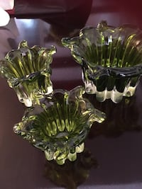 Green and clear glass bowl Toronto, M2M
