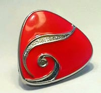 red and silver ring in box Philadelphia, 19134