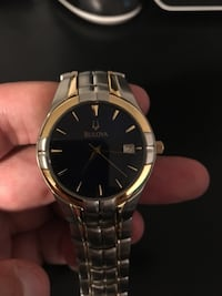 round gold Michael Kors analog watch with link bracelet Edgewater, 21037