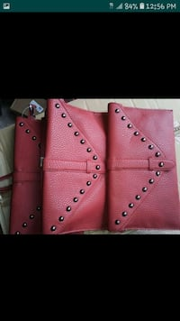 gorgeous red leather purse