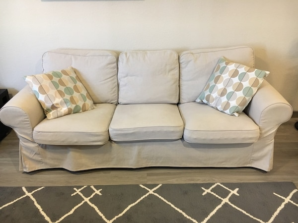 Used Ikea Ektorp Sofa Beige Must Pick Up Today For Sale In