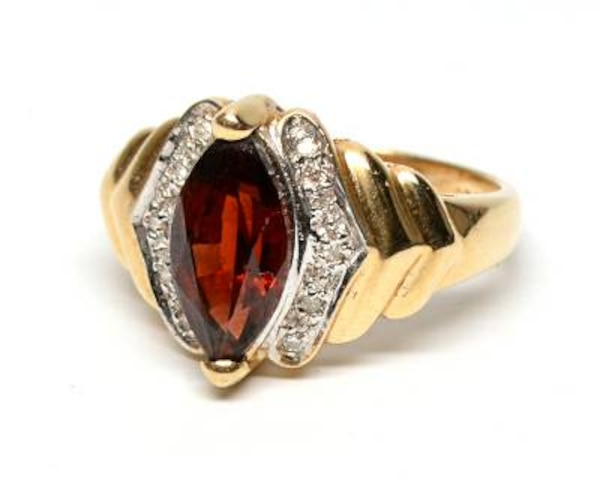 Marquise-Cut Garnet Ring