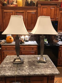 two white and black table lamps Lakeland, 33815