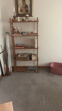 Two roxton five level bookcases for cookbooks Ext