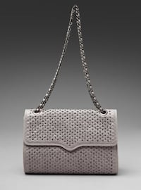 Rare Rebecca Minkoff Studded Quilted Leather Affair Bag in Dove Grey Vancouver, V5R 3N5