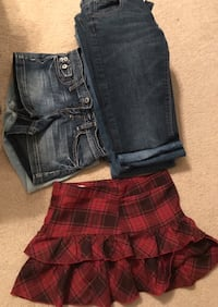 Sz 3 jeans, shorts and skirt