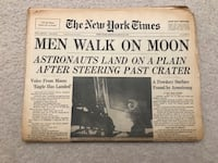 Historical The New York Times Men Walk On Moon July 21 1969 Gaithersburg, 20878