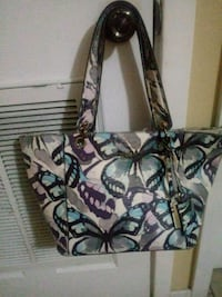 white and black floral leather tote bag Houston, 77077