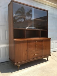 Mid century walnut dining room hutch cabinet South Gate, 90280