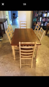 Wooden dining table & 6 marching chairs  Miami, 33145