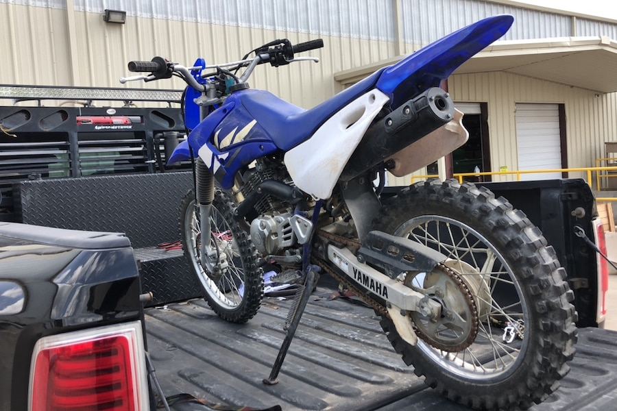 Photo Yamaha 125 trail bike new top end and carb runs line new