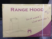 Hood over the range stainless steel and glass #1 rating hood. Brand new sealed New York, 11235
