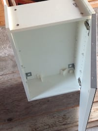 "Mirror cabinet with 1 door, white, 2 glass shelves15 3/4x8 1/4x25 1/4"" Toronto, M8Z 2A6"