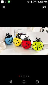 Lady bug, frog, birdie tooth brush holder Toronto, M1G 2C7