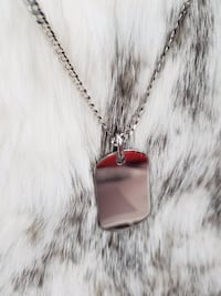 Sterling Silver Curb Dog Tag Necklace Burnaby