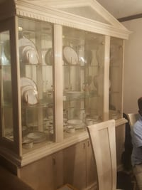 white wooden framed glass display cabinet Willingboro, 08046