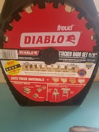 Brand New Diablo 5/8 Double Stacked Dato Saw Blade Nampa