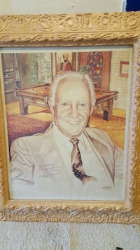 Pool legend Willie Marconi signed painting
