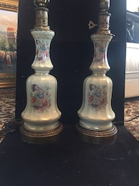 Antique french hand painted lamp pair Toronto, M2R 3N1