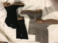 Suede boots for sale-Size 7.  2 pairs for $10 Black pair Grey pair Arlington, 22201