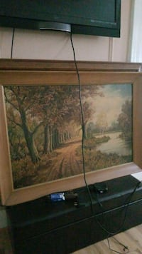 brown wooden framed painting of trees Queens, 11104