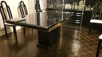 Dining table and 6 chairs black lacquered Vaughan, L6A 1E3