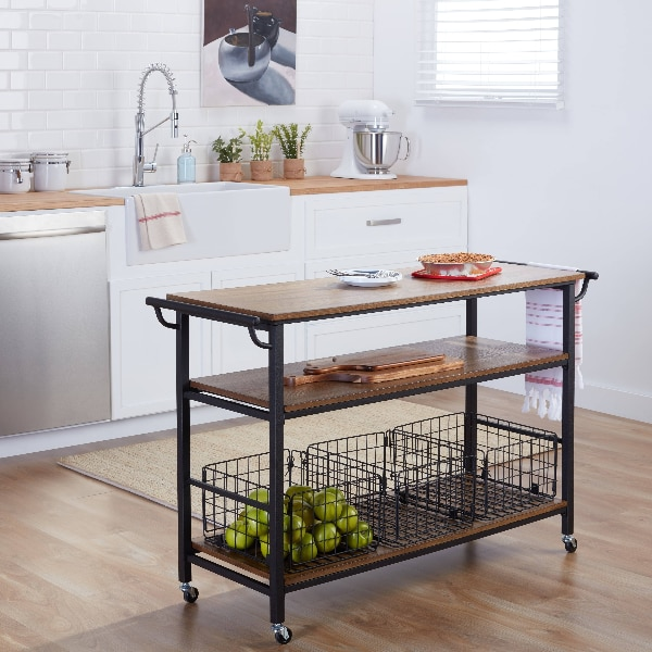 Modern Kitchen/Bar Cart with baskets