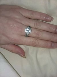 New- Lab Created Solitaire Diamond Ring  Indian Head, 20640