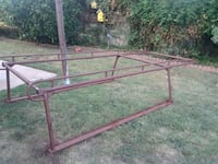 red and brown metal bed frame Brea, 92823