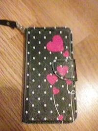 black and pink floral iPhone case Norwich, 06360