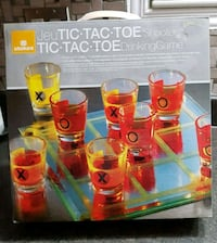 Tic- Tac- Toe Drinking Game, incl. 6 shot glasses
