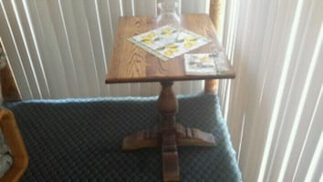 Wood holaway table