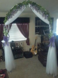 Beautiful Tulle/Floral Wedding, Anniversary or Party Arch